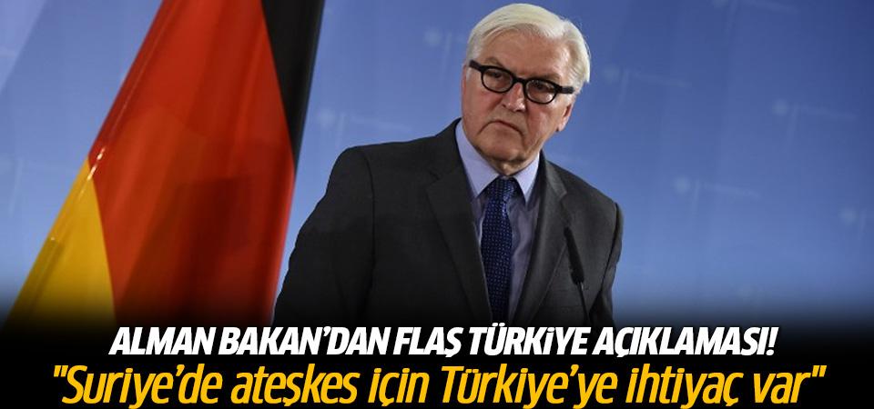 Alman bakandan flaş Türkiye açıklaması
