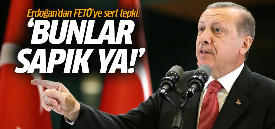 Erdoğan'dan FETÖ'ye sert tepki: Bunlar sapık ya!