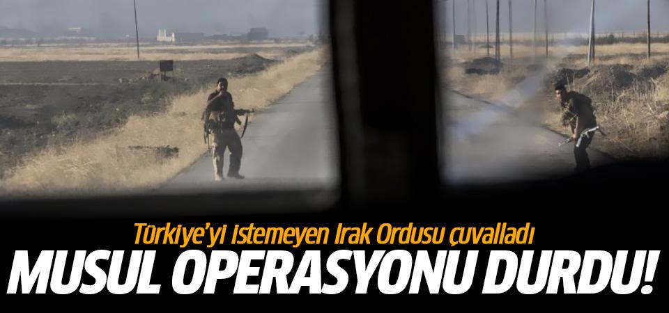 Büyük umutlarla başlayan Musul operasyonu durdu!