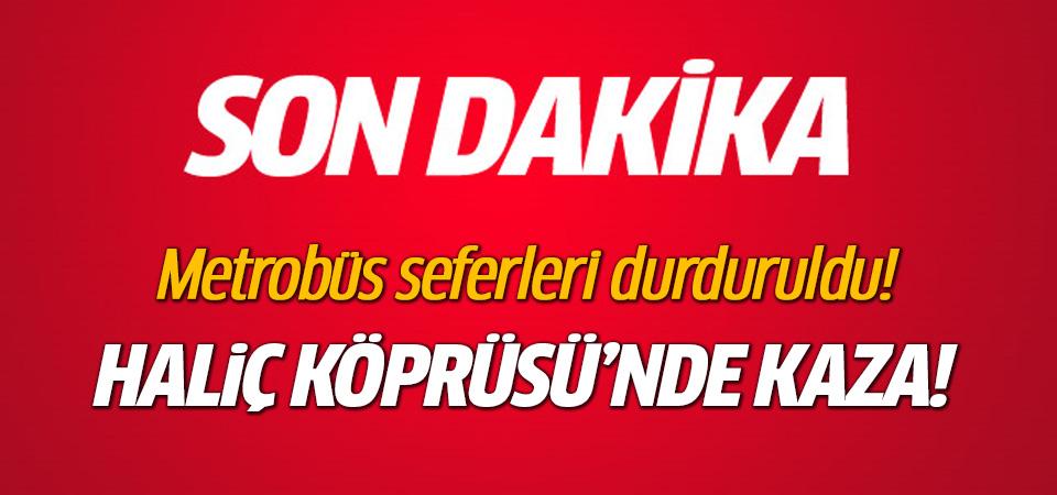 İstanbul'da kaza! Metrobüs seferleri durduruldu