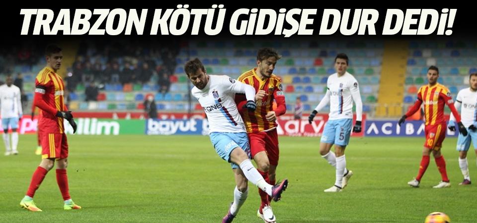 Kayserispor Trabzonspor maçının sonucu ve geniş özeti