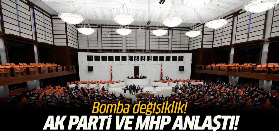 AK Parti ve MHP yedek milletvekilliğinde uzlaştı!
