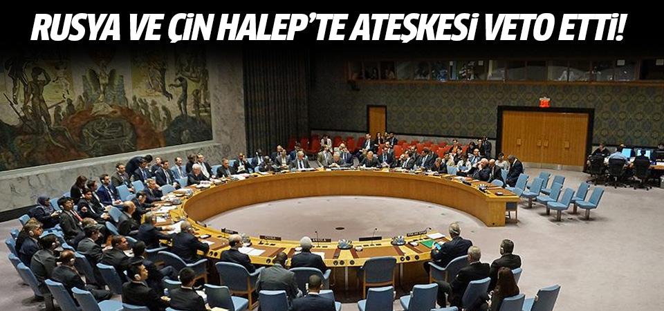 Rusya ve Çin Halep'te ateşkesi veto etti