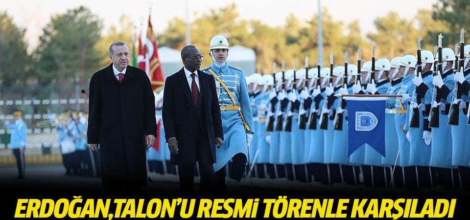 Erdoğan, Talon'u resmi törenle karşıladı