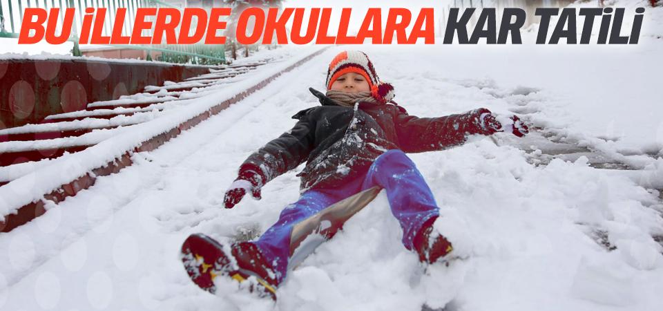 Dikkat! 6 ilde okullara kar tatili
