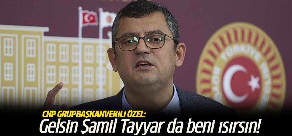 CHP Grup Başkanvekili Özel: Gelsin Şamil Tayyar da beni ısırsın