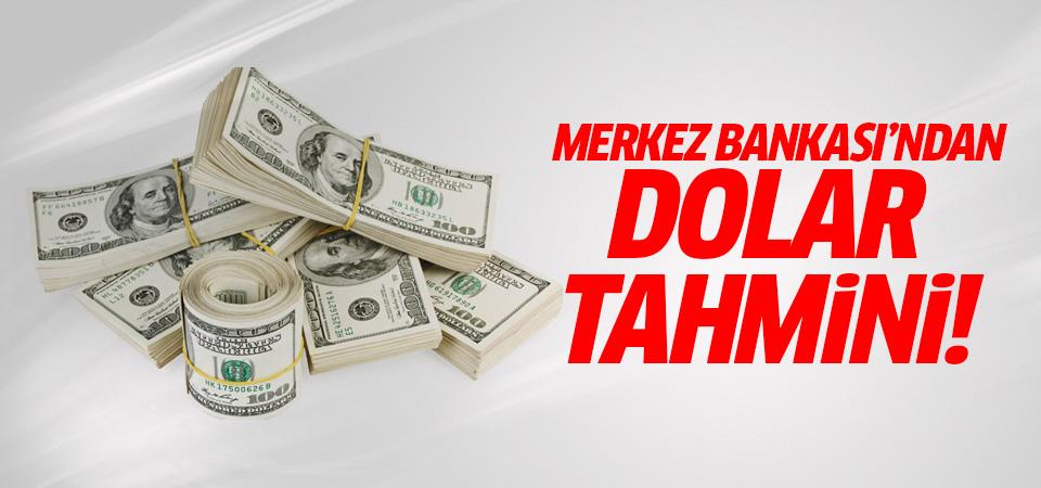 Merkez Bankası'ndan Dolar tahmini!