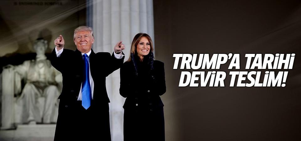 Trump'a 'tarihi' devir teslim!
