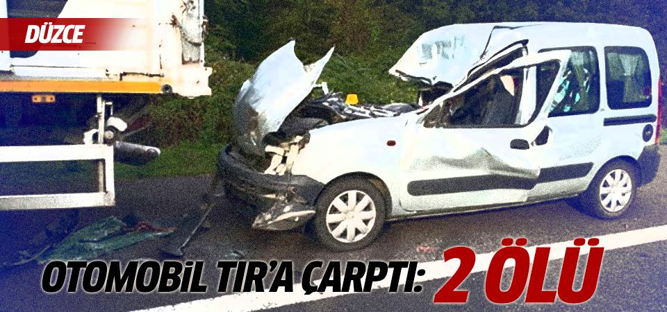 Düzce'de kaza: 3 ölü