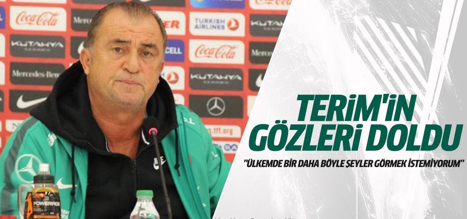 Fatih Terim'in sesi titredi