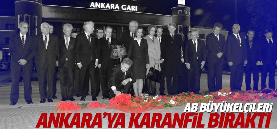 AB büyükelçileri Ankara'ya karanfil bıraktı