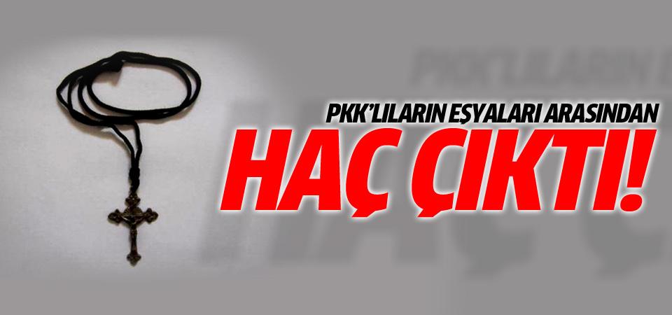 Ele geçirilen PKK'lı eşyalarının içinden haç çıktı