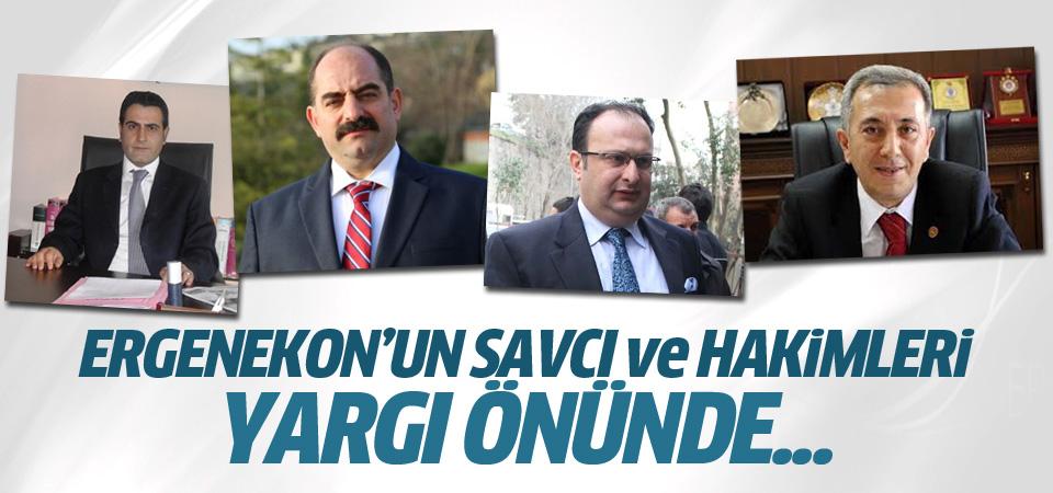 Ergenekon'un savcı ve hakimleri yargı önünde...