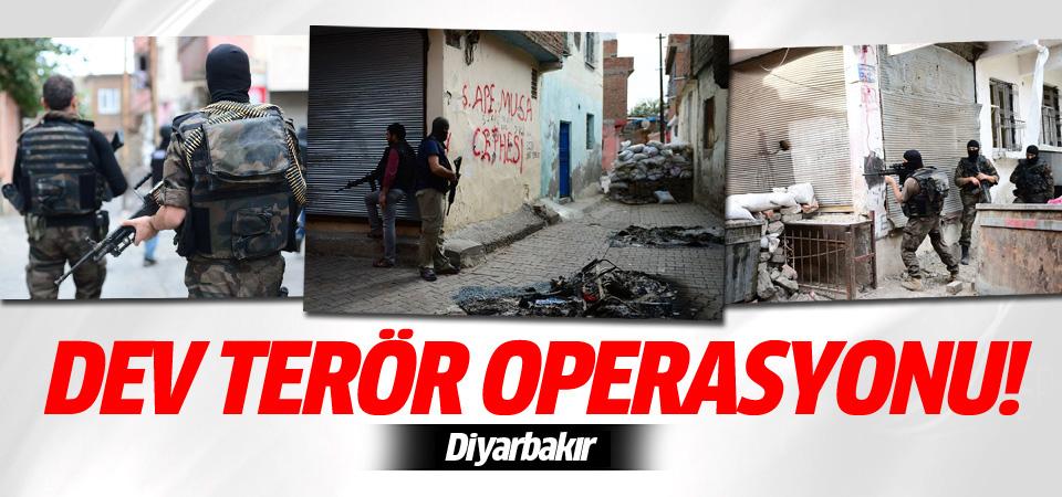 Diyarbakır'da büyük terör operasyonu!