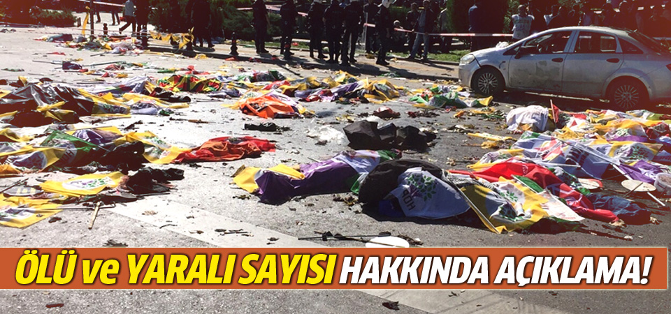 Saldırı ile ilgili ölü ve yaralı sayısı hakkında açıklama