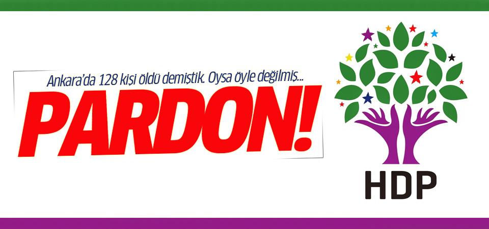 HDP kamuoyundan özür diledi!