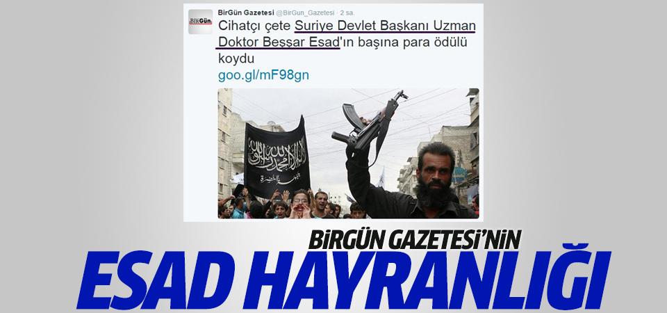 Birgün Gazetesi habere Esad'ın mesleğini yazdı