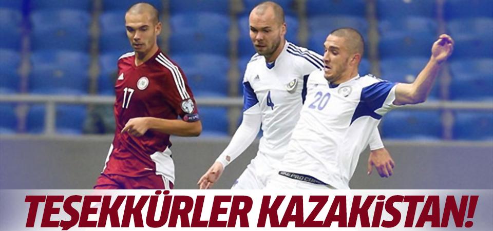 Kazakistan Letonya'yı 1-0 mağlup etti