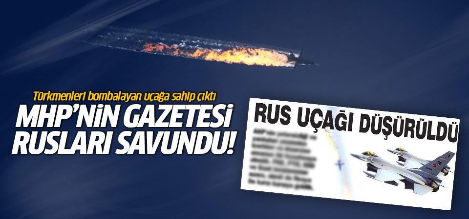 MHP'nin Gazetesi Ortadoğu Rusları savundu