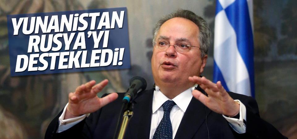 Yunanistan'dan Rusya'ya destek!