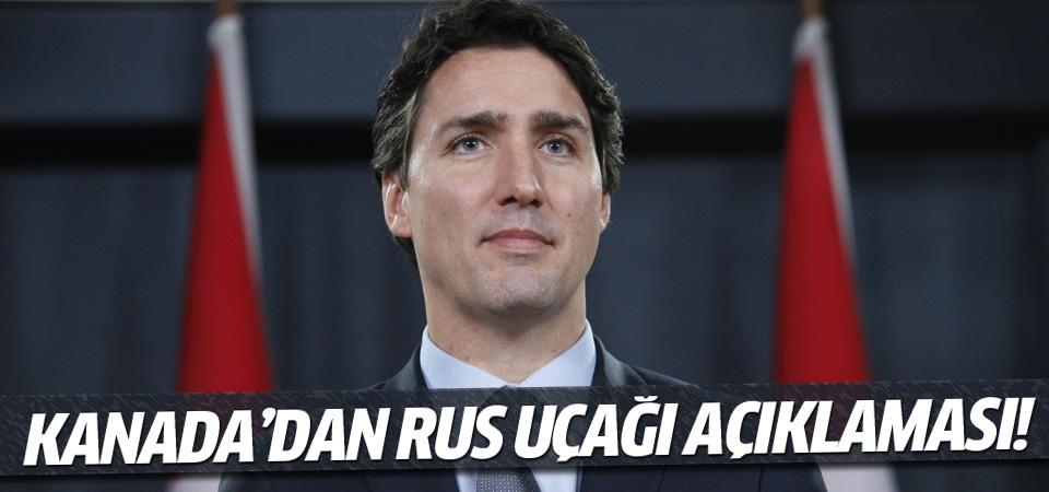 Kanada Başbakanından düşürülen uçakla ilgili yorum