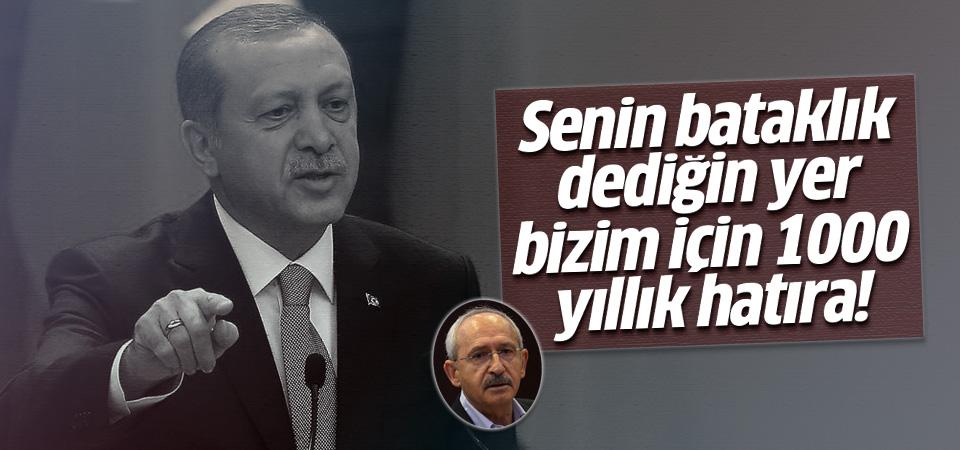 Erdoğan'dan Kılıçdaroğlu'na 'bataklık' cevabı