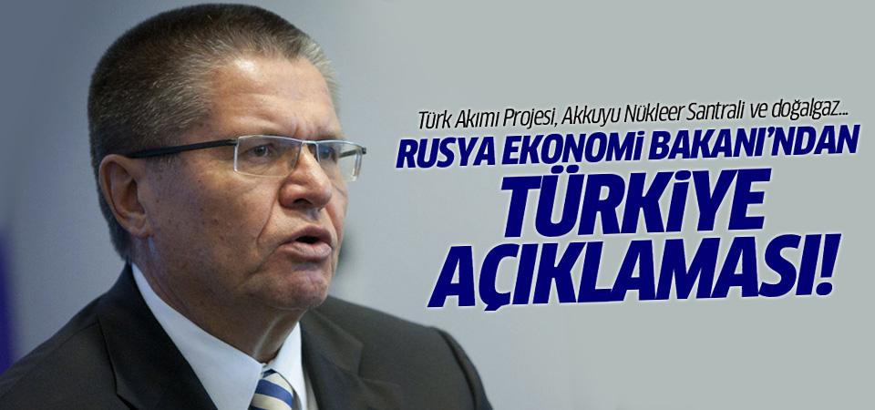 Rusya Ekonomi Bakanı'ndan Türkiye açıklaması!