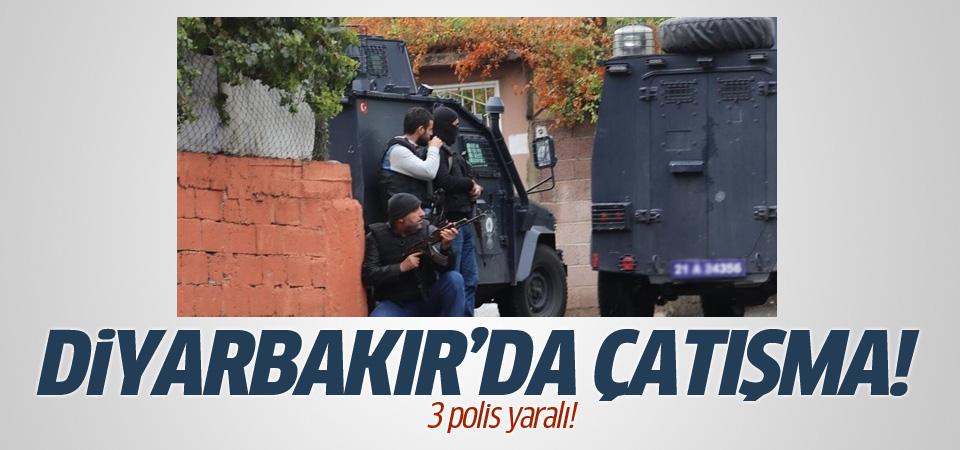 Diyarbakır'da çatışma! 1'i ağır 3 polis yaralı!