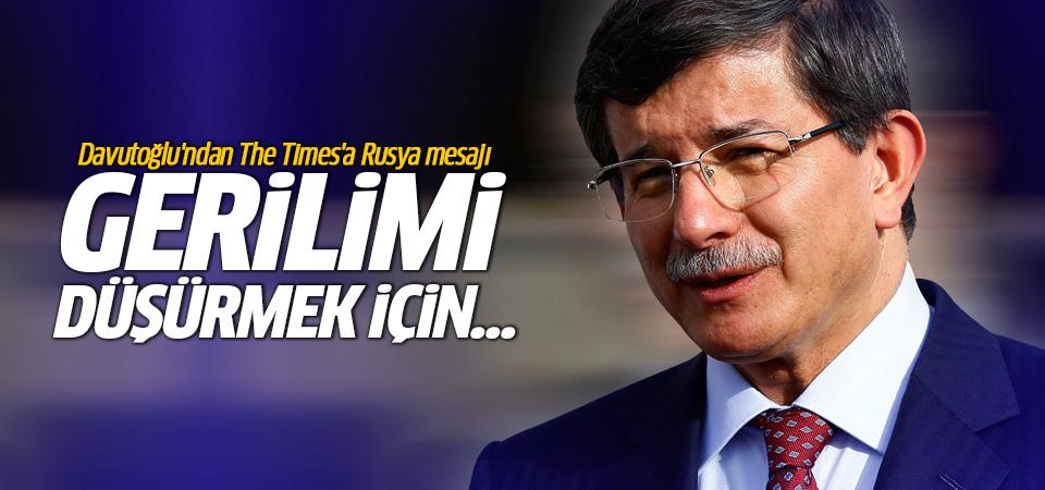 Davutoğlu'ndan The Times'a Rusya makalesi