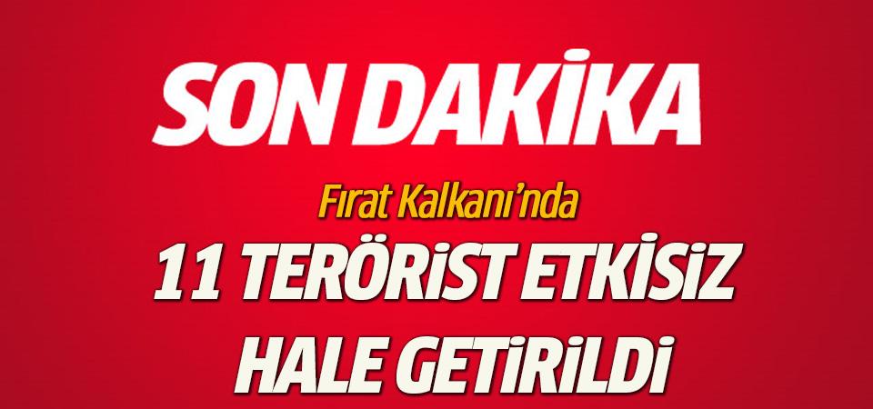 Fırat Kalkanı'nda 152. gün: 165 hedef vuruldu, 11 terörist etkisiz hale getirildi