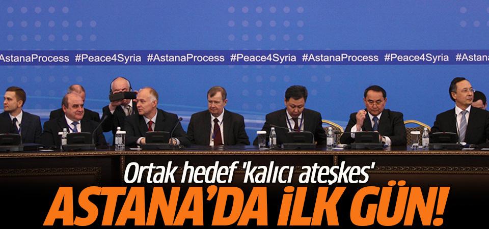 Astana görüşmelerinde ilk gün sona erdi
