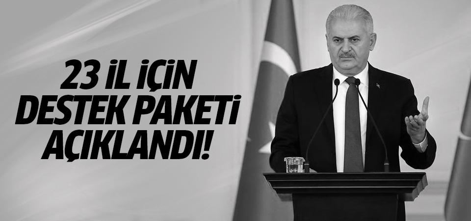 Başbakan Yıldırım destek paketini açıkladı!