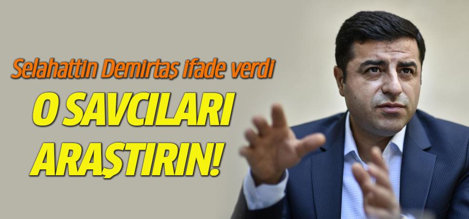 Selahattin Demirtaş: Bu savcıları araştırın!