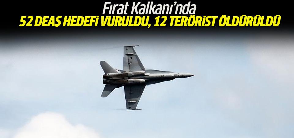 Fırat Kalkanı Harekatı'nda 12 terörist etkisiz hale getirildi