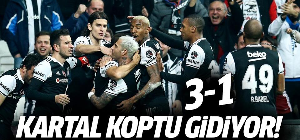 Beşiktaş koşar adım şampiyonluğa gidiyor! 3-1