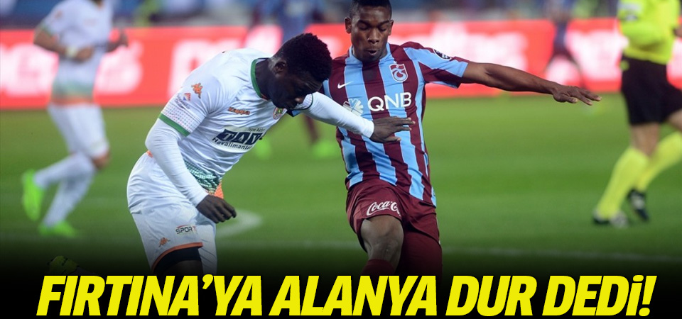Trabzonspor-Alanyaspor maçı geniş özeti