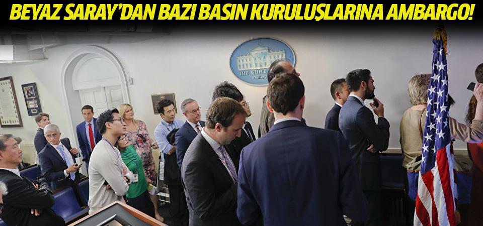 Beyaz Saray'dan medya devlerine 'basın toplantısı' yasağı