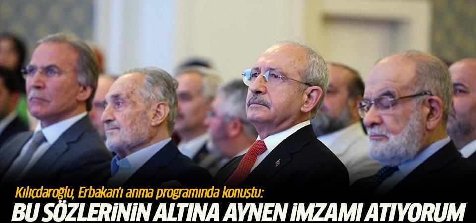 Kılıçdaroğlu, Erbakan'ı anma programında konuştu
