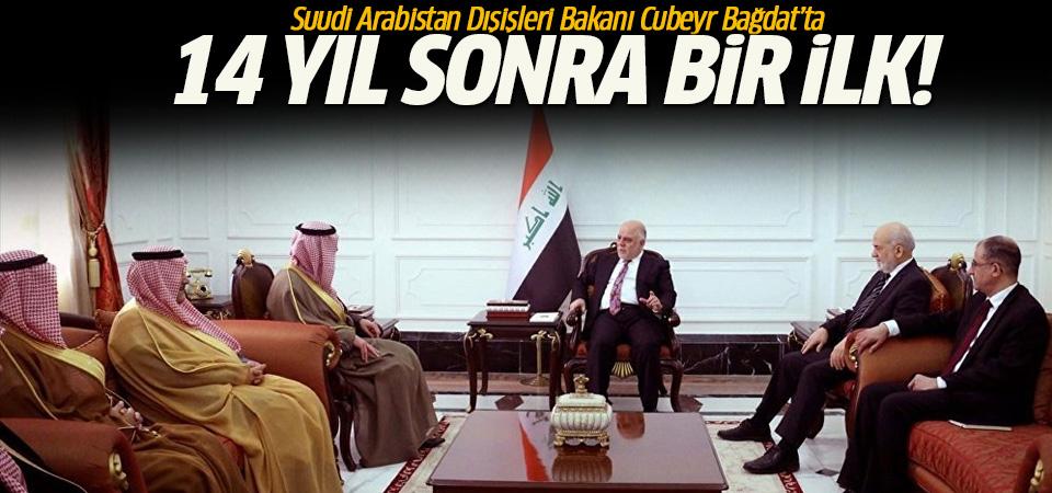 Suudi Arabistan'dan 14 yıl sonra bir ilk: Dışişleri Bakanı Cubeyr, Bağdat'ta