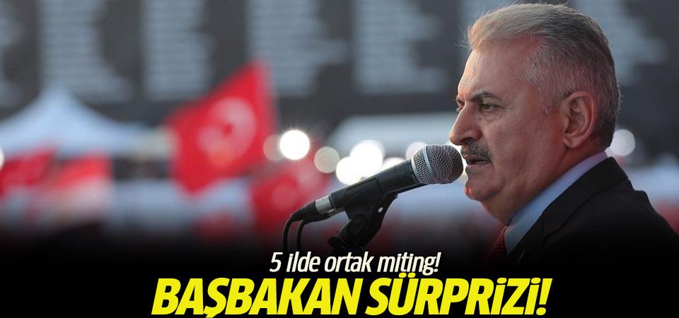 Başbakan, Cumhurbaşkanı Erdoğan ile 5 ilde ortak miting düzenleyecek