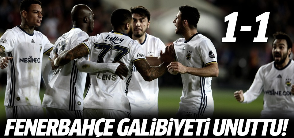 Fenerbahçe yine puan kaybetti! 1-1