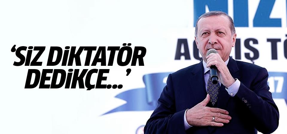 Cumhurbaşkanı Erdoğan: Siz diktatör dedikçe...