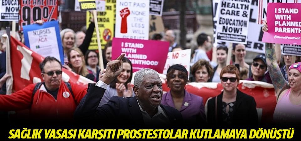 ABD'de sağlık yasası karşıtı protestolar kutlamaya dönüştü