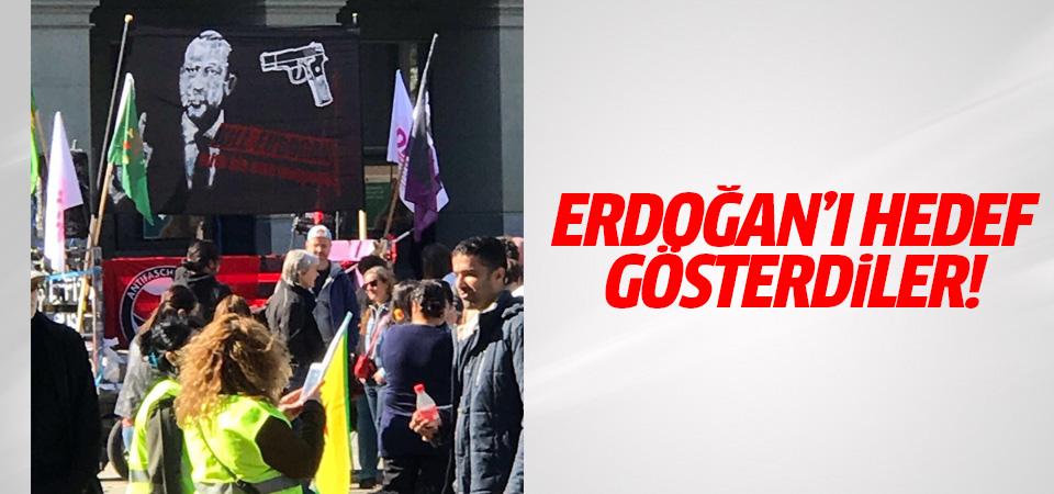 Avrupa'da büyük küstahlık! Erdoğan'ı hedef gösterdiler