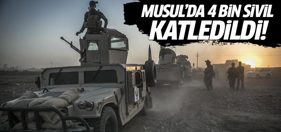 Musul'da 4 bin sivil katledildi