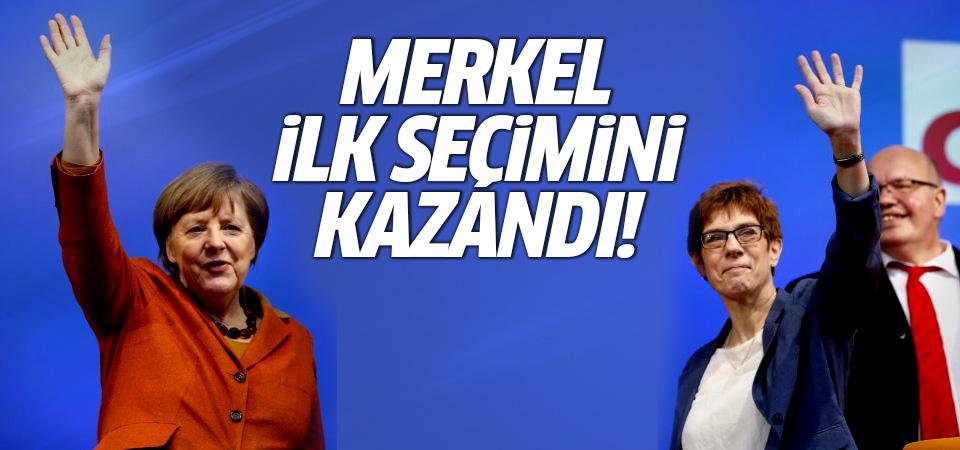Saarland seçimlerini Merkel'in partisi kazandı