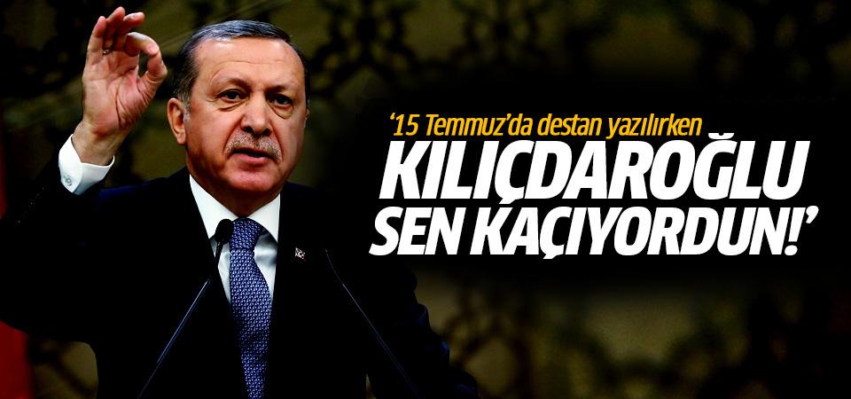 Erdoğan: Kılıçdaroğlu sen Atatürk Havalimanı'nda kaçıyordun!