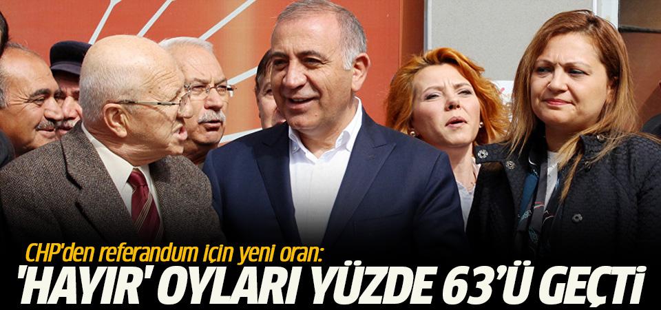 CHP'den referandum için yeni oran: 'Hayır' oyları yüzde 63'ü geçti