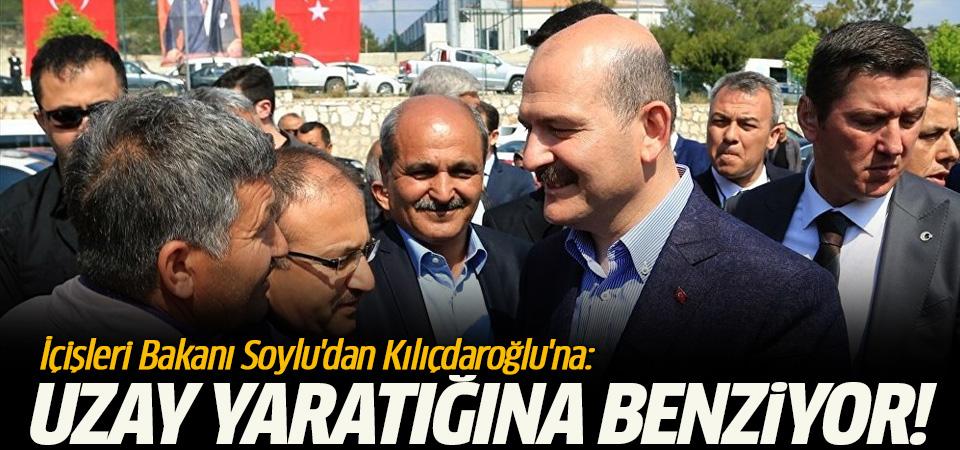 İçişleri Bakanı Soylu'dan Kılıçdaroğlu'na: Uzay yaratığına benziyor