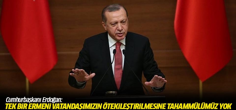 Erdoğan'dan 24 Nisan mesajı: Tek bir Ermeni vatandaşımızın dahi ötekileştirilmesine tahammülümüz yok